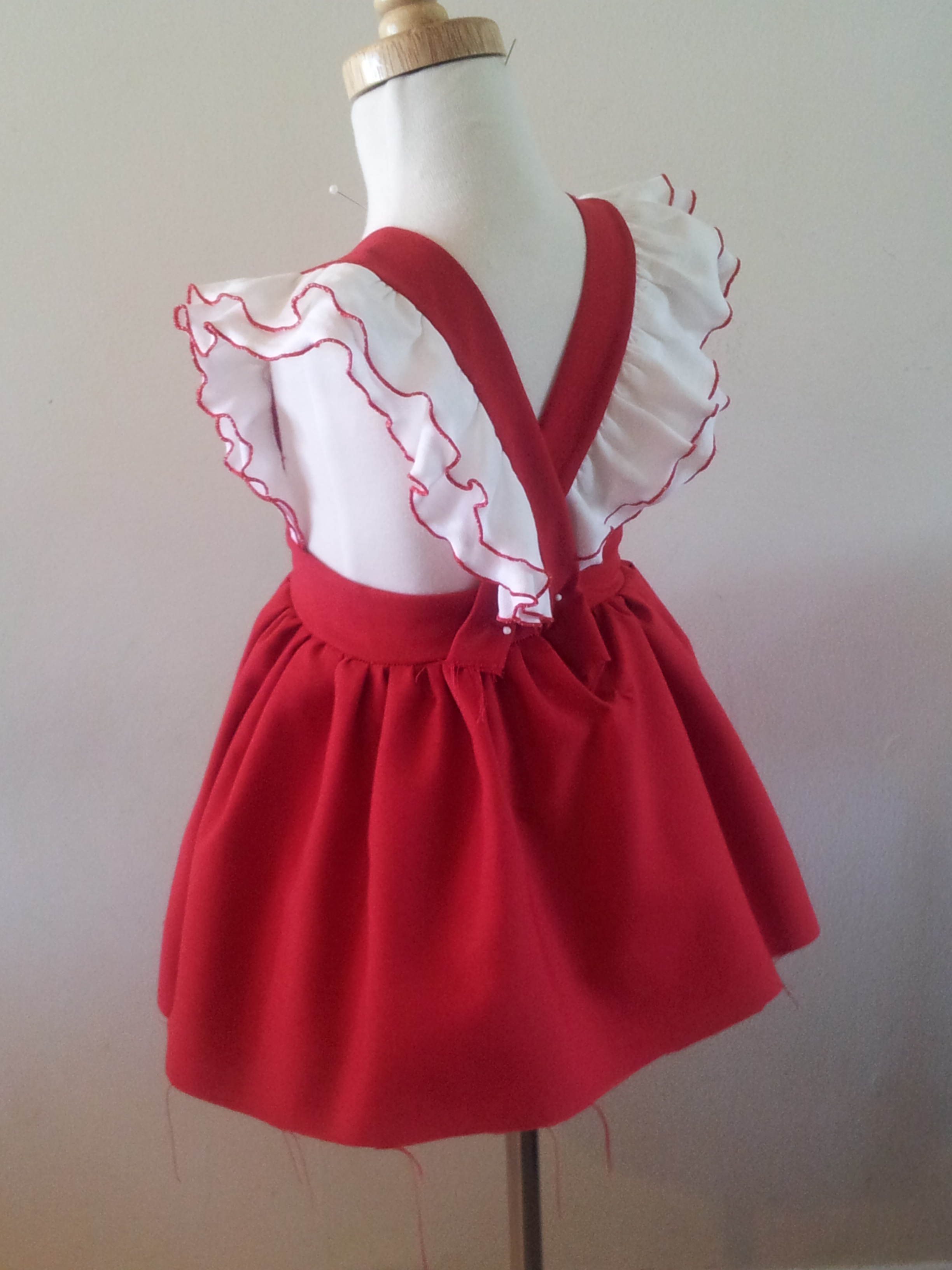 Knitting Pattern Baby Girl Pinafore : vintage pinafore Ms. Belles Boutique